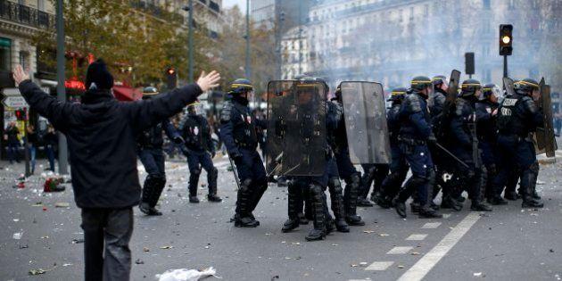 Polícia entra em confronto com manifestantes antes de cúpula do clima em