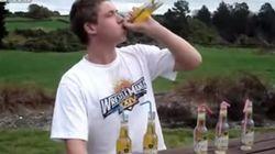 DEU RUIM! Ele tentou beber 6 garrafas de cerveja em 2 minutos,