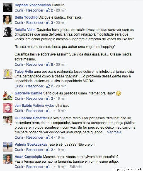 Absurdo: Grupo defende em outdoor e no Facebook o 'fim dos privilégios para deficientes' em