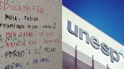 Banheiro da Unesp de Bauru vira 'mural' para pichações racistas e