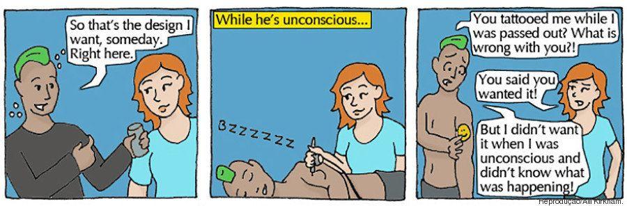 7 situações que não têm nada a ver com estupro e que ilustram perfeitamente a ideia de