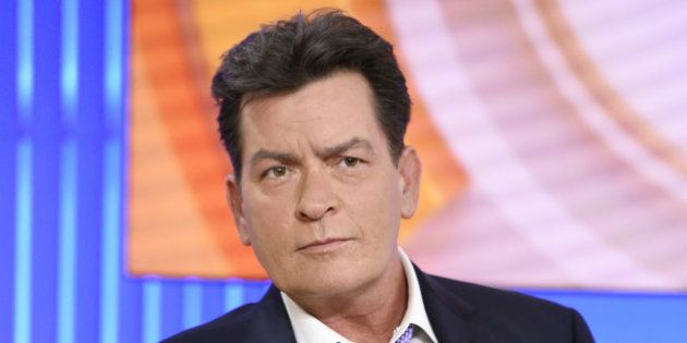 Actor Charlie Sheen appears during an interview, Tuesday, Nov. 17, 2015 on
