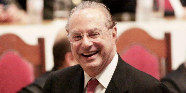 SAO PAULO, BRAZIL - DECEMBER 17: Politician Paulo Maluf attends a ceremony at Sao Paulo Legislative Assembly...