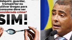 Romário: descriminalizar porte de drogas 'vai misturar' traficantes e