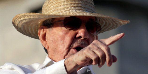 Cuba's President Raul Castro attends a May Day parade in Havana May 1, 2016. REUTERS/Enrique De La
