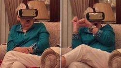 ASSISTA: Vovozinha tem reação HILÁRIA com realidade virtual de 'Jurassic