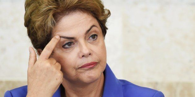 Brazilian President Dilma Rousseff speaks during meeting of the Vocational Education Project for Young...