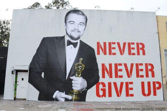 'Nunca desista': Leonardo DiCaprio ganha mural em Hollywood para celebrar o