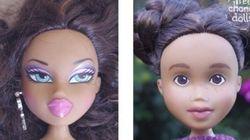 Esta mãe resolveu modificar as bonecas da filha. Agora elas estão sem maquiagem -- e