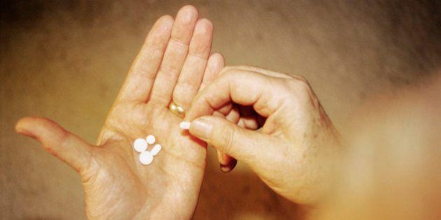 Senior Holding Pills