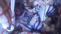 Assista ao turbulento retorno de astronautas visto de dentro de cápsula