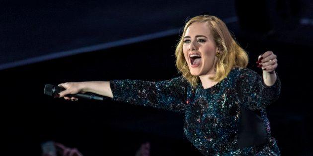 VERONA, ITALY - MAY 28: Adele performs at Arena di Verona on May 28, 2016 in Verona, Italy. (Photo by...