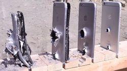Veja quantos iPhones são necessários para parar um tiro de