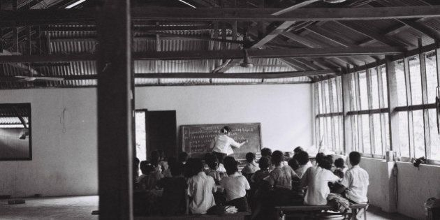 A traditional classroom in Myanmar - complete with