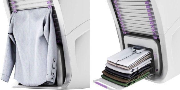 Empresa cria máquina de lavar que também passa e dobra roupas