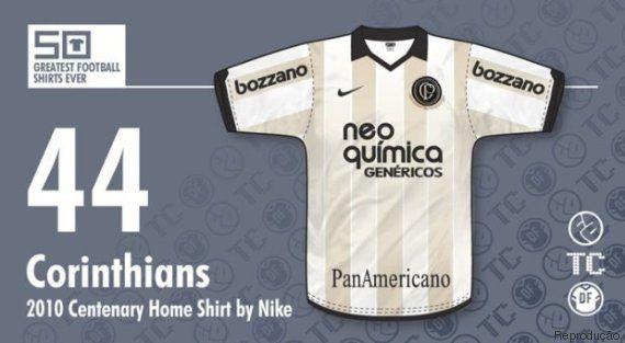 Sites elegem as 50 camisas de futebol mais bonitas da história. Corinthians é o único