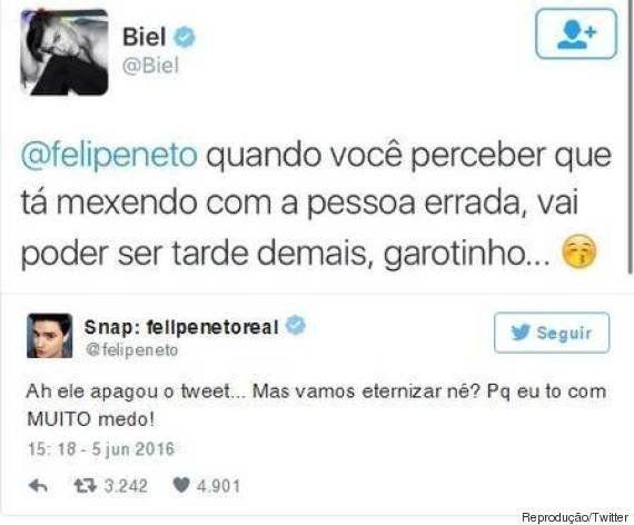 Felipe Neto condena machismo de Biel. Mas a internet recorda que seu teto é de