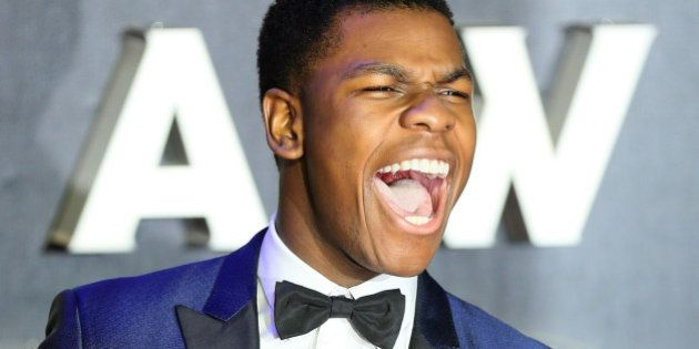 Actor John Boyega arrives at the European Premiere of Star Wars, The Force Awakens in Leicester Square,...