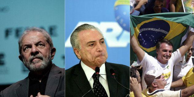 Pesquisa CNT: Lula lidera intenções de voto; Temer e Bolsonaro estão empatados em 5º