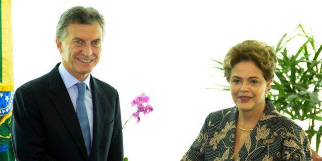 Em clima de 'normalidade', Dilma Rousseff recebe o presidente eleito da Argentina, Mauricio
