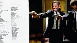 Veja a 'lista de desejos' com o verdadeiro elenco de Tarantino para 'Pulp