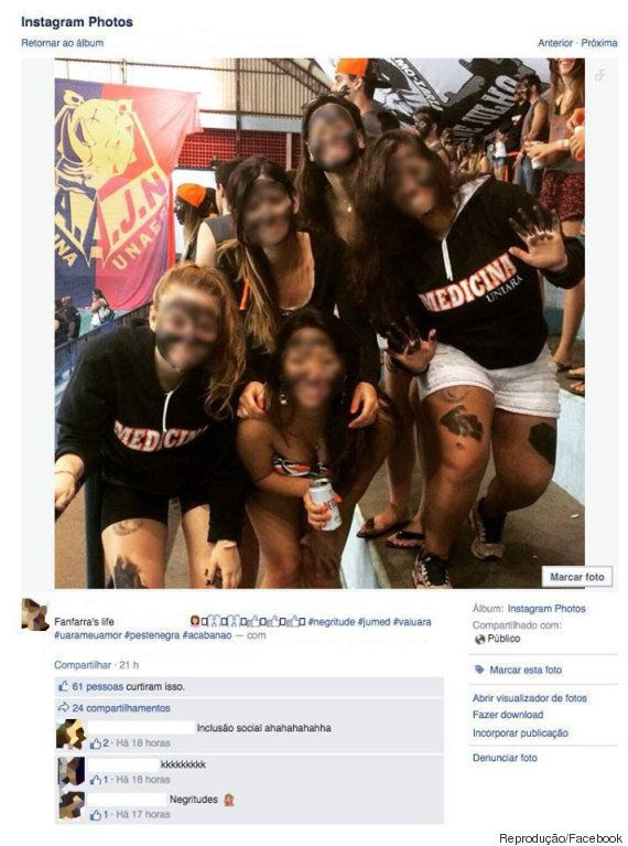 Alunas de medicina da Uniara tentam 'fazer piada' com rosto pintado de preto e são acusadas de