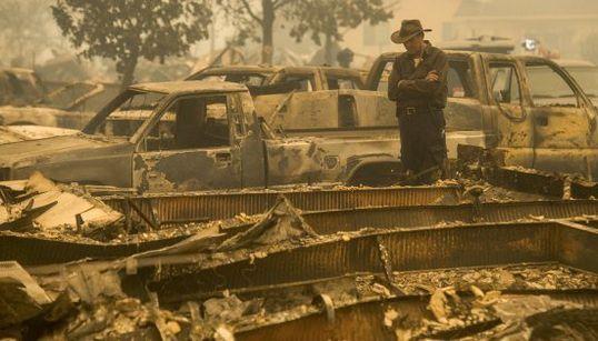 FOTOS: Incêndio assola Estado da