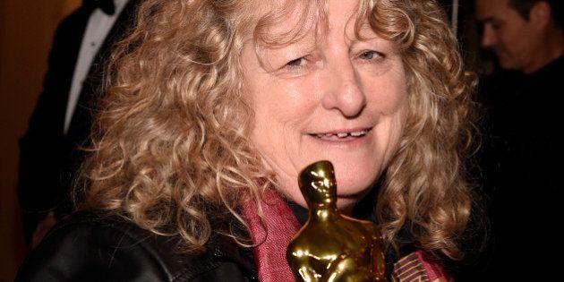 HOLLYWOOD, CA - FEBRUARY 28: Costume designer Jenny Beavan, winner of the Best Costume Design award for...