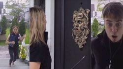 ASSISTA: Em nova pegadinha, porta assusta visitantes