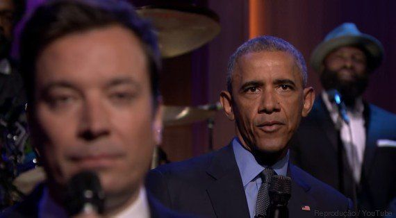 Obama canta Rihanna com Jimmy Fallon e MANDA A REAL para Donald