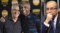ASSISTA: Cunha é 'homenageado' em show de Caetano e Gil no