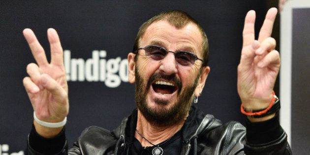 TORONTO, ON - OCTOBER 20: Ringo Starr launches his New Book 'Photograph' at Indigo Manulife Centre on...