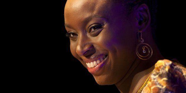 HAY-ON-WYE, UNITED KINGDOM - JUNE 09: Writer Chimamanda Ngozi Adichie attends the Hay Festival on June...