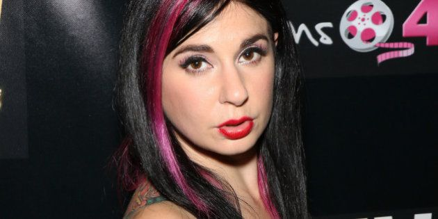 LAS VEGAS, NV - JANUARY 16: Adult film actress Joanna Angel attends the 2014 AVN Adult Entertainment...