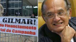 Gilmar Mendes vota contra e ironiza PT querer doação pública: 'me toca o