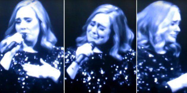 Adele cai no choro ao dedicar show na Bélgica às vítimas de ataque em Orlando
