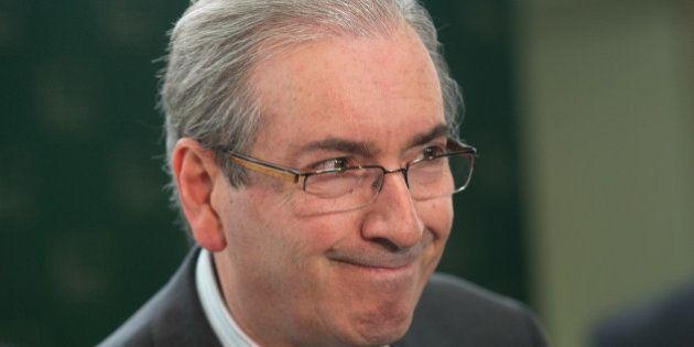 O presidente da Câmara dos Deputados, Eduardo Cunha, durante entrevista coletiva, fala sobre regra para...