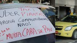 ASSISTA: Guerra ao Uber gera tensão e confusão com taxistas no Rio e