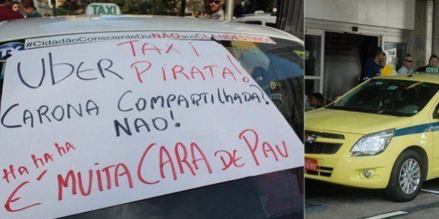 Guerra ao Uber: Tensão entre taxistas e motoristas do app aumenta no Rio e em