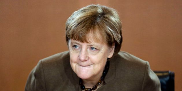 German Chancellor Angela Merkel arrives for German government's weekly cabinet meeting in Berlin, Wednesday,...