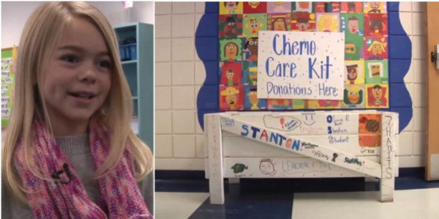 Depois de perder a tia, garotinha distribui 'kits de quimioterapia' para crianças com
