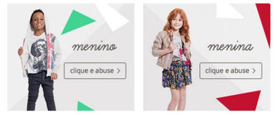 Clique e abuse? Site da C&A causa polêmica com imagem de