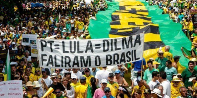 RIO DE JANEIRO, BRAZIL - DECEMBER 13: Thousands of people gather to protest against the government of...