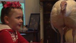 A única coisa que ela quis para o Natal foi salvar um peru da