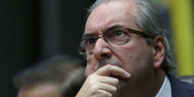 House Speaker Eduardo Cunha, who supports the impeachment of Brazil's President Dilma Rousseff, attends...