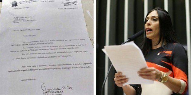 Deputada Federal 'ignora' concurso público e recomenda empresário para cargo de