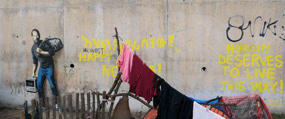 O novo grafite de Banksy é um lembrete importante: Steve Jobs era filho de refugiados