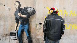 Banksy tem um lembrete importante: Steve Jobs era filho de refugiados
