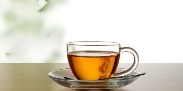 a cup of tea on the