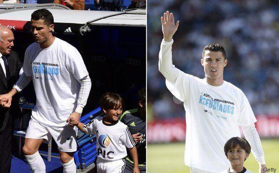 Menino sírio chutado por húngara entra no estádio com Cristiano